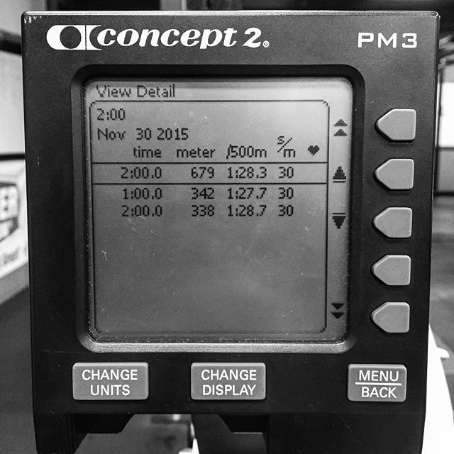 A final nod to #Rowvember. Beat my previous best by 22m. Low SPM. Not bad for being pretty Olympic Lifting and Short Sprint Specific. BW = 184 # // You've got a few hours left to contribute to the @rowvember cause. Get it in. //