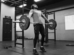 When training anything involving power, it's important to stay aggressive through all phases of the lift. Big pull, big transition, and an aggressive catch.