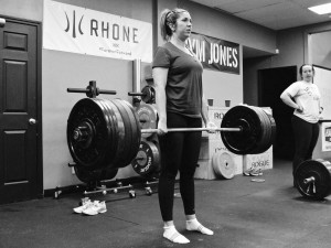 Gabrielle had no trouble with 210# for a PR on deadlift.
