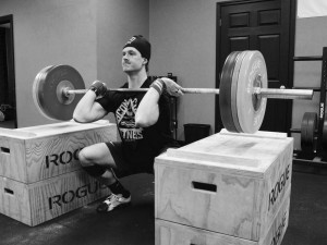 Oscar working up to a Heavy Dead Stop Front Squat.