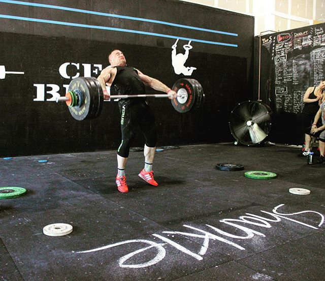 Today was an awesome day slamming bars with Jon North at the @attitudenation seminar. Thanks @crossfit_ofallon for hosting us today. The level of instruction was incredible and big weight was moved. // Jon smashing a 163kg snatch. //