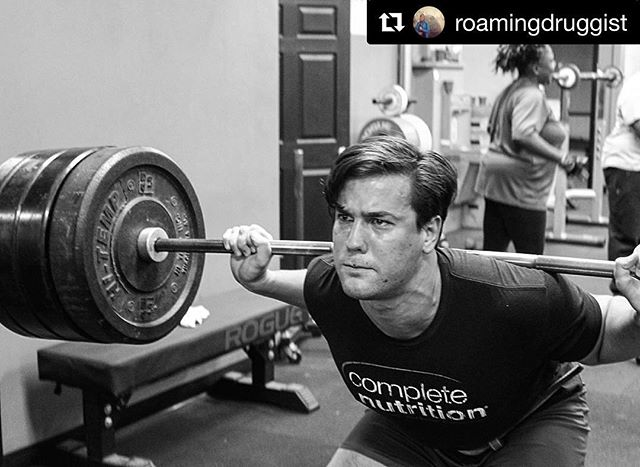 @roamingdruggist with @repostapp ・・・ Big John powers through five reps at 385 # (75%) //