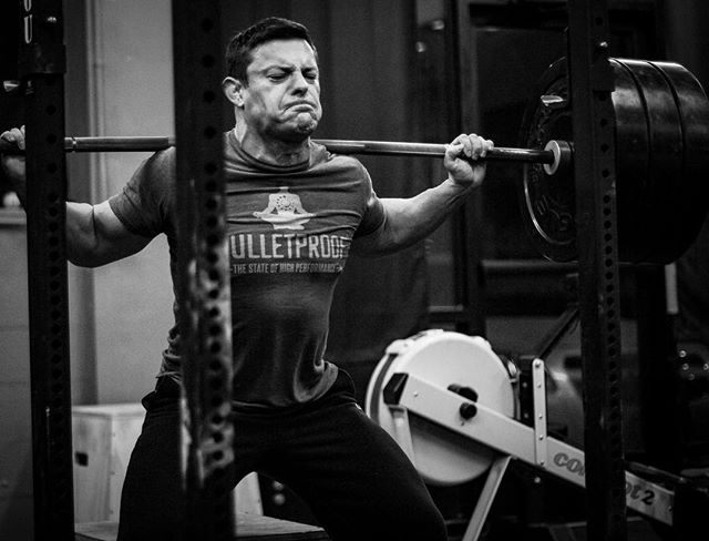 Attack the bar with every single rep. @davey_richards83 @michaelsobol38 // // 📸 @horsepowerandbarbells