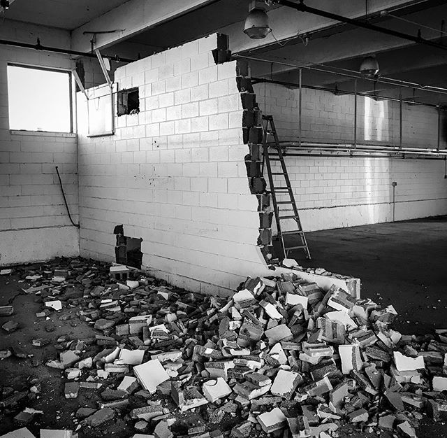 There's something exciting about destruction and then the immediately following construction. The start of something new, something better, the next step in a process. Seven Weeks. Here We Go. // // 📸 @horsepowerandbarbells