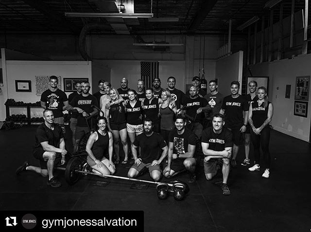 What an incredible group of tough individuals. Thank you all who attended the @gymjonessalvation Advanced Seminar this week. Let's continue to light the torch. //
