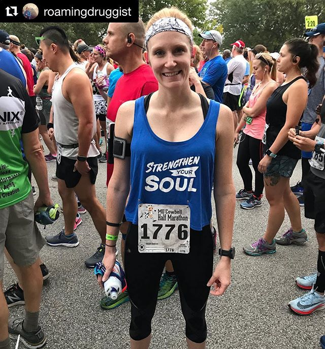 Emily @roamingdruggist had a great run yesterday in the Half Marathon. She came away with a solid Competition and Lifetime Personal Best due to her dedication in the gym this past month. Great work! // Repost @roamingdruggist // [run] // Just have fun and don't forget why you like to do something. The mind will quit before the body. // The months coming up to this race have been full of excuses (illness, travel, life and work stressors) that have kept me from ever getting my head in the game of training. I downgraded my race from a marathon to a half and considered cancelling it completely. Ultimately, I made the decision to go for it and walk as much as I need to. I went into this race having barely trained (30 miles in August and 9 miles in September). I had no expectations going into this race except to have fun and do what I could. // I finished the race with a 1:50 PR on my all time best half and a 17 minute PR on my race half. Good things happen when your mind and body sync up. //